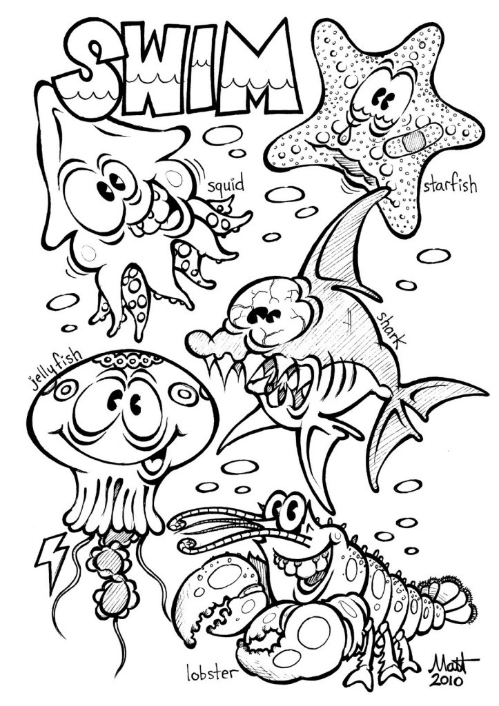 Kids Free Coloring Sheets  Free Printable Ocean Coloring Pages For Kids