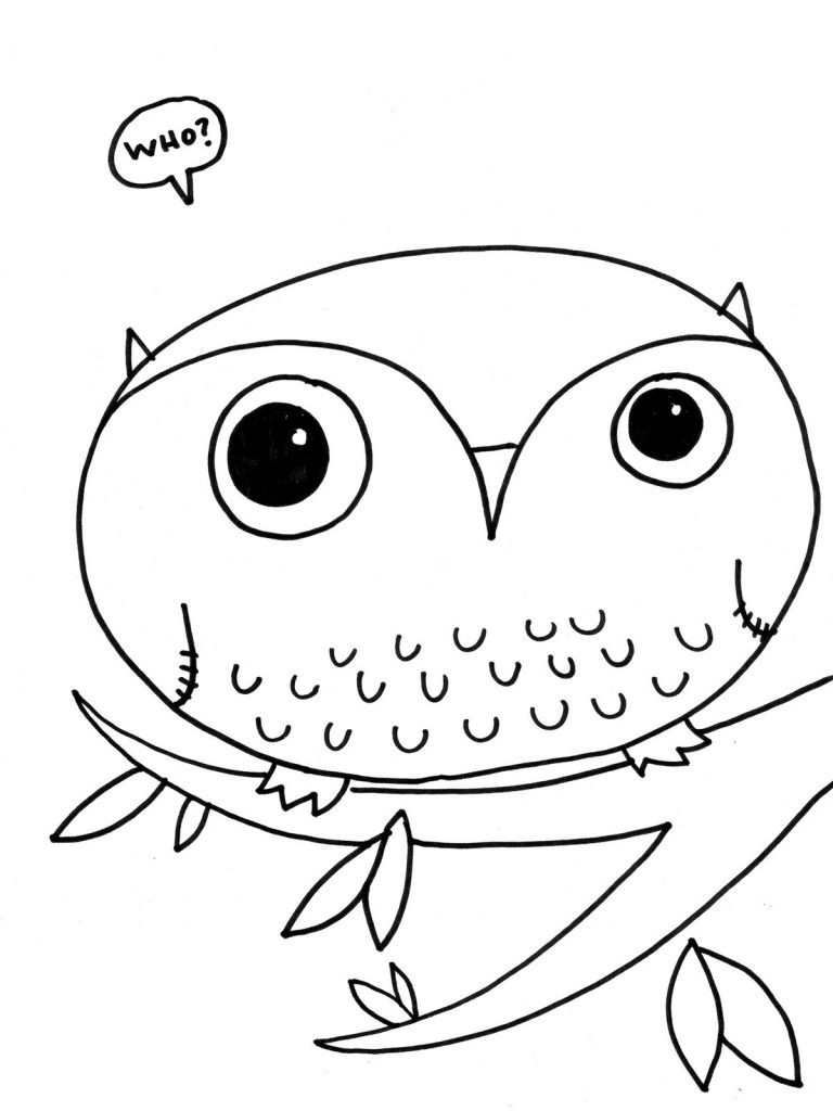 Kids Free Coloring Sheets  Free Printable Owl Coloring Pages For Kids