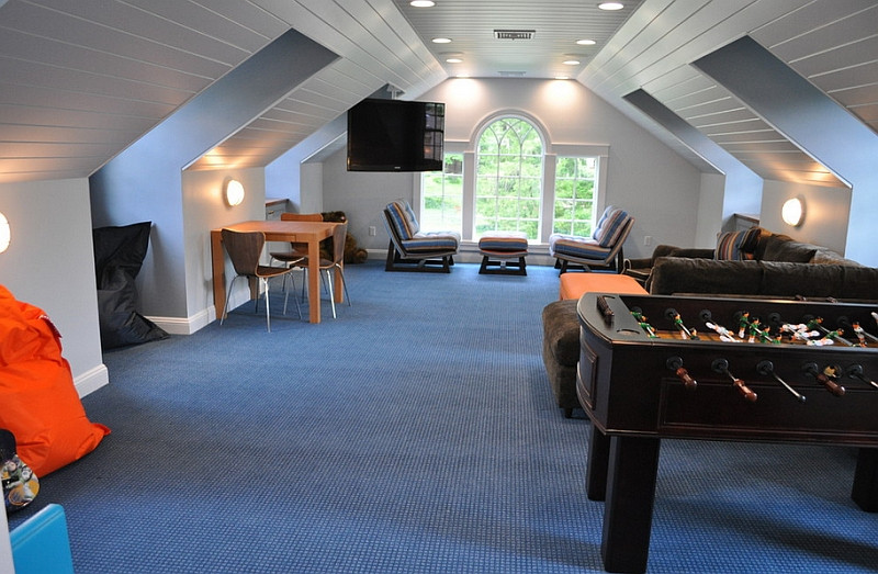 Best ideas about Kids Game Room . Save or Pin How To Transform Your Attic Into A Fun Game Room Now.
