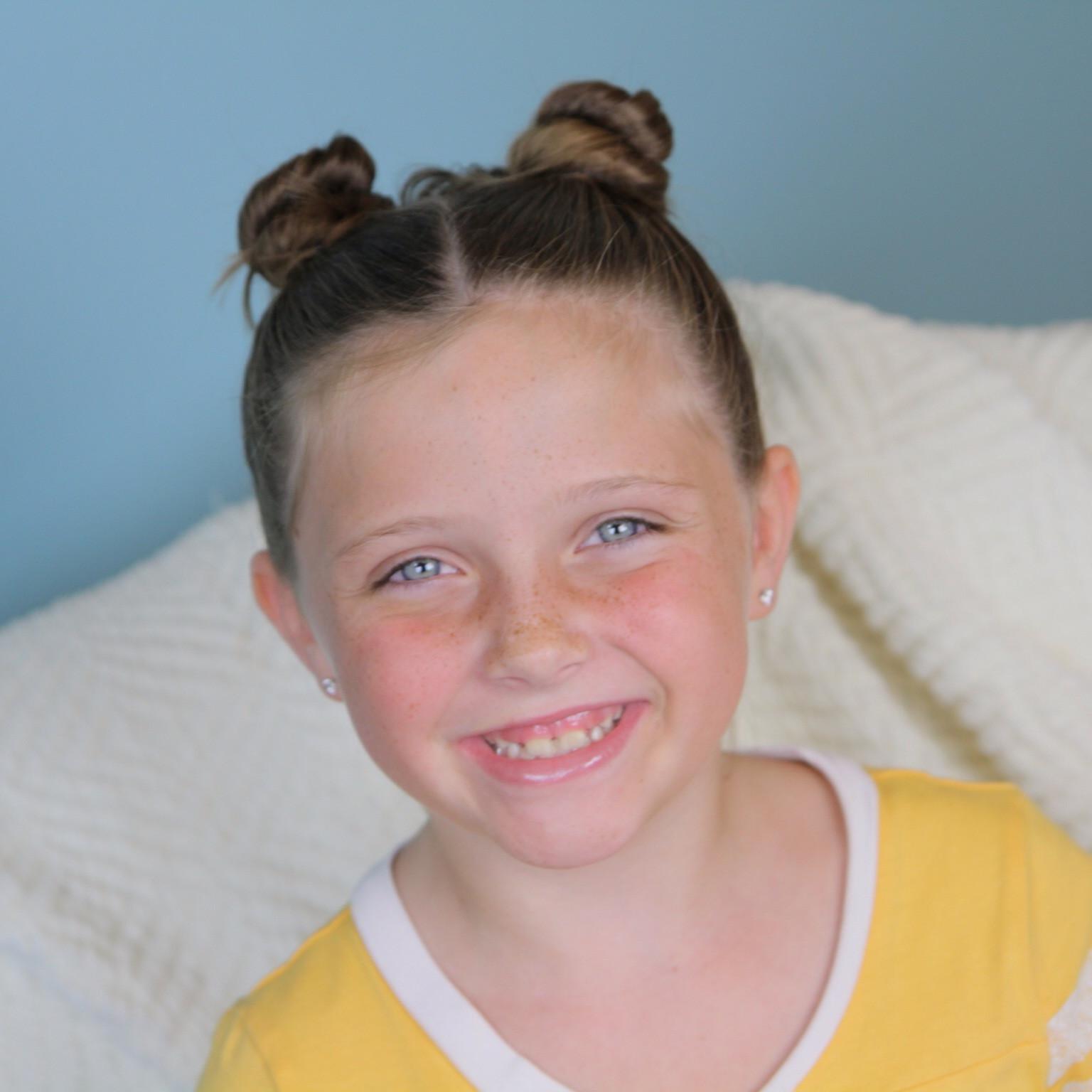 Kids Girl Hairstyle  Not So Hidden Mickey Disney Hairstyles