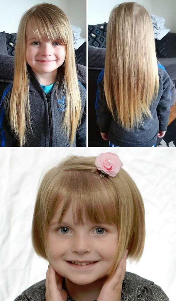Kids Hair Cut Austin  Girl 4 Donates Her Hair to Make Wigs for Children with