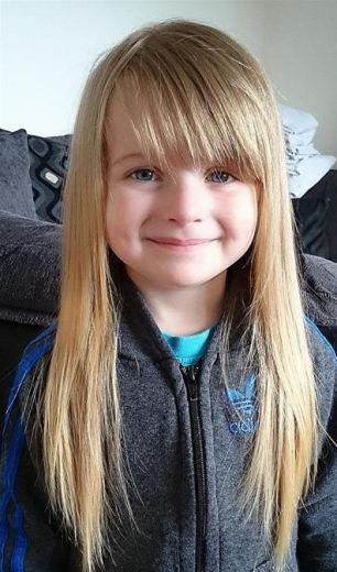 Kids Hair Cut Austin  Evie Leigh Austin 4 cuts her hair to make wigs for