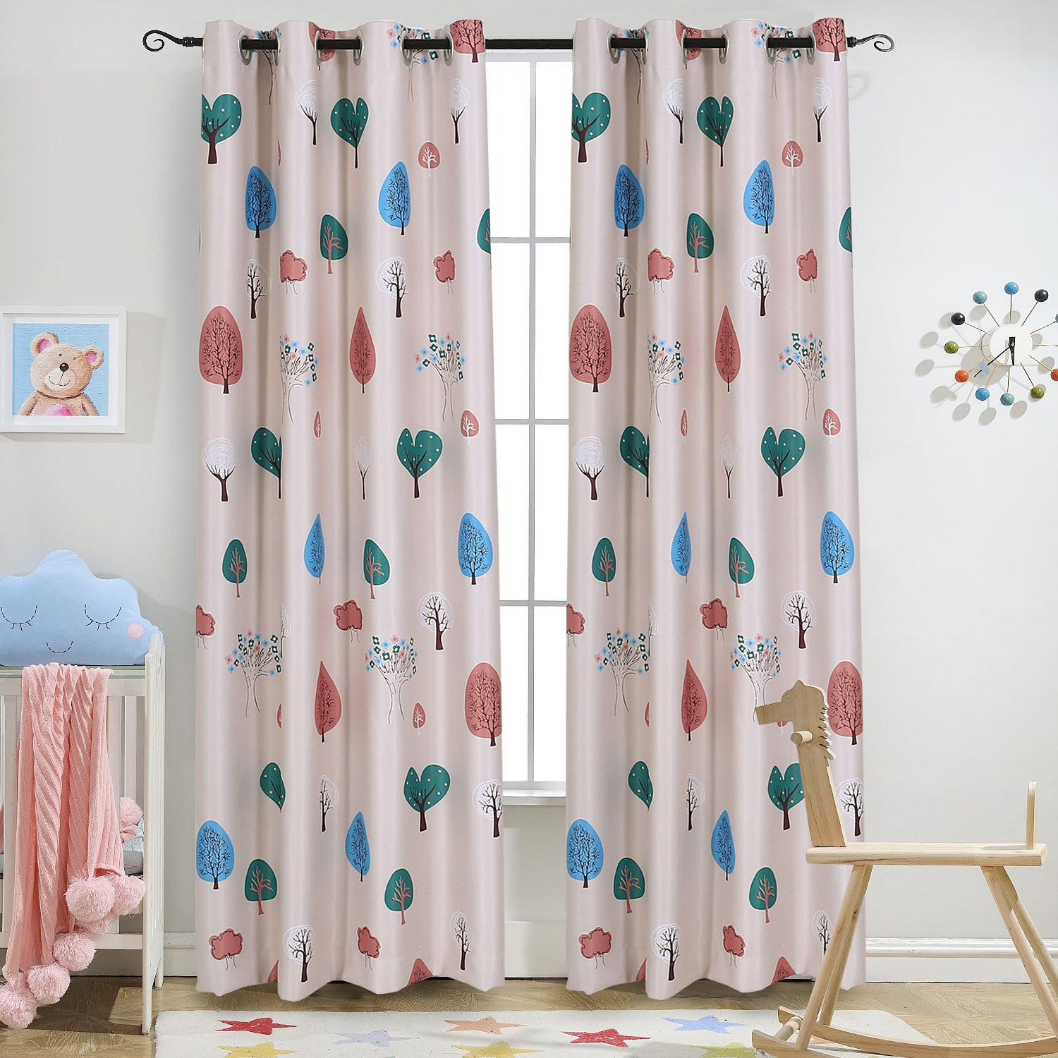 Best ideas about Kids Room Curtains Ideas . Save or Pin Kids Room Machine Washable Dark Blue Printed Curtain For Now.