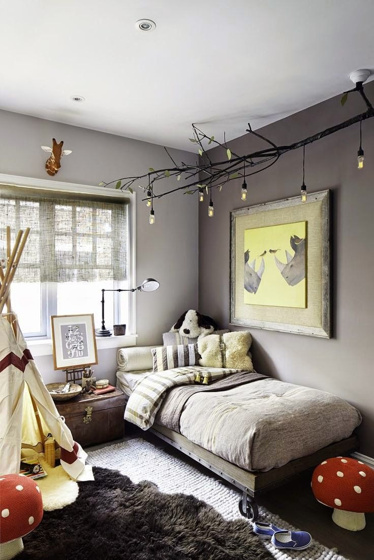 Best ideas about Kids Room Light Fixture . Save or Pin Picture diy celing light fixture of branches is a nice Now.