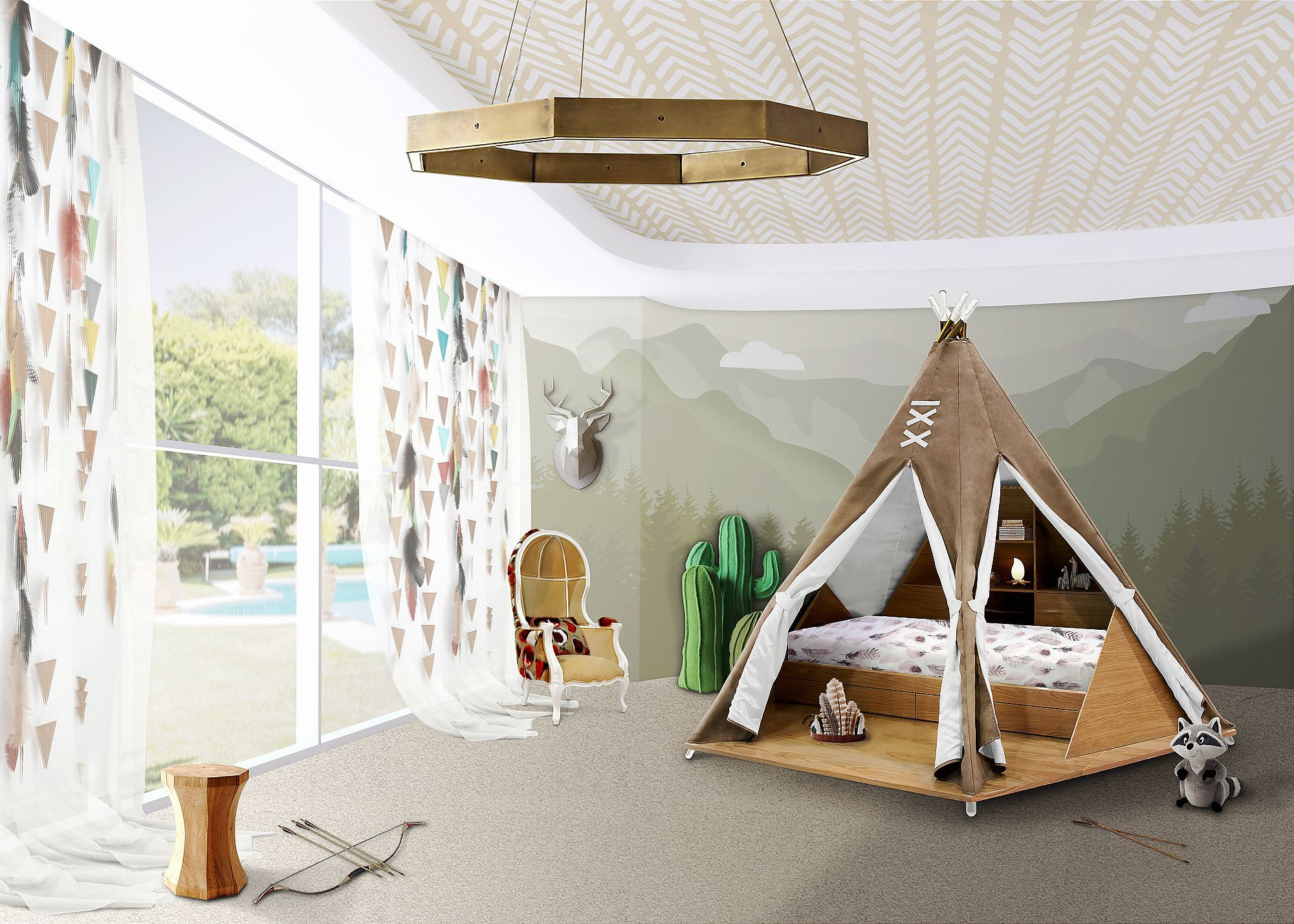 Best ideas about Kids Room Tent . Save or Pin Fun Design 10 Fabulous Teepees for that Playful Kids' Room Now.