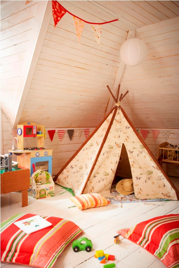 Best ideas about Kids Room Tent . Save or Pin 33 Cool Kids Play Rooms With Play Tents Now.