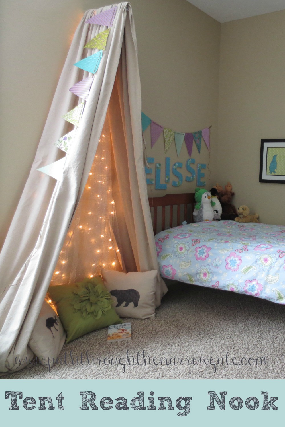Best ideas about Kids Room Tent . Save or Pin Tent Reading Nook for a Small Space Now.
