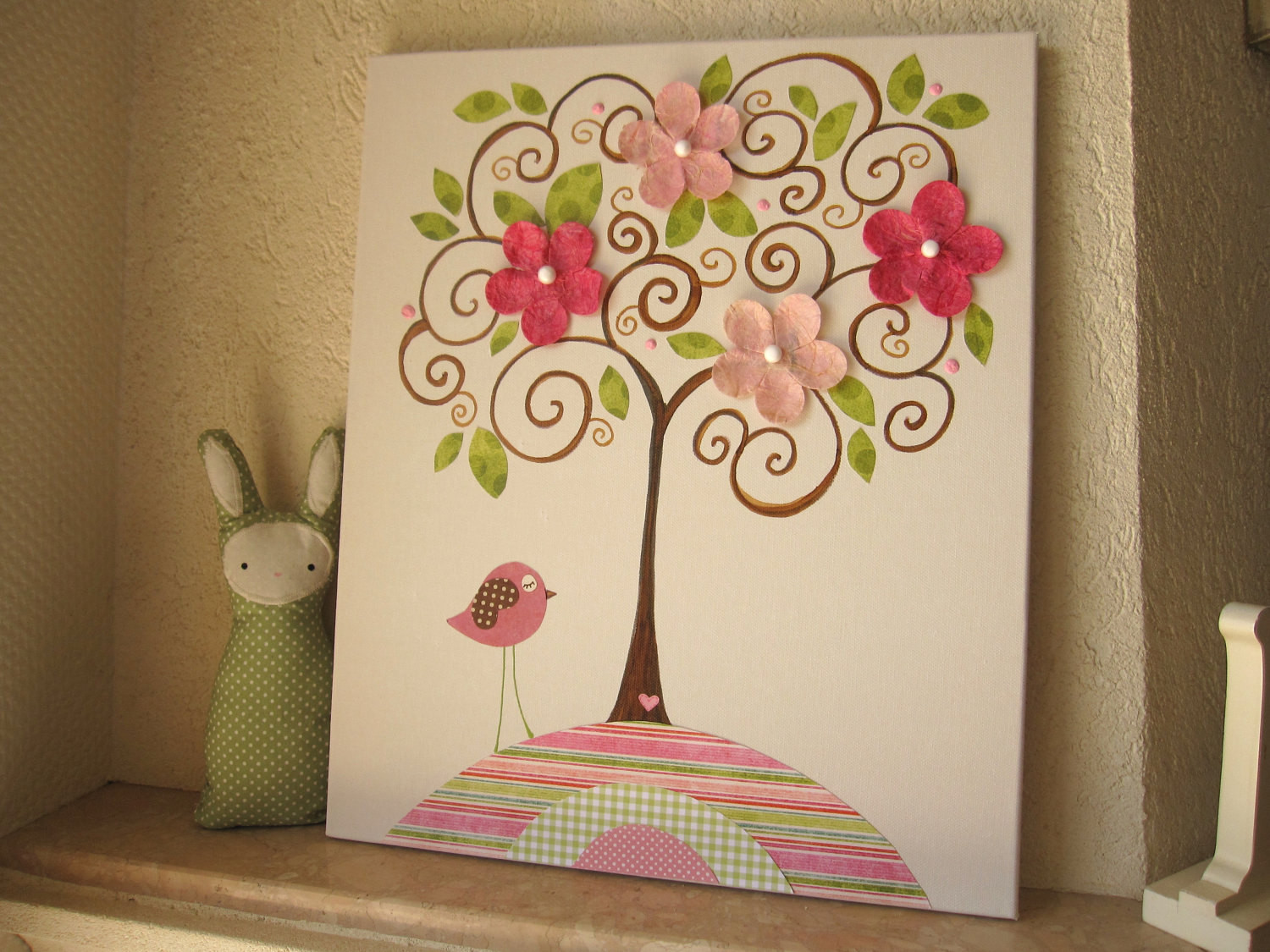 Best ideas about Kids Room Wall Art . Save or Pin Nursery Kids Room Decor Canvas Artwork Girls Now.
