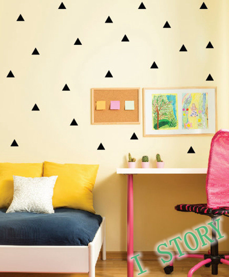 Best ideas about Kids Room Wall Art . Save or Pin Triangles Wall Sticker Kids Room wall decoration Gold Now.