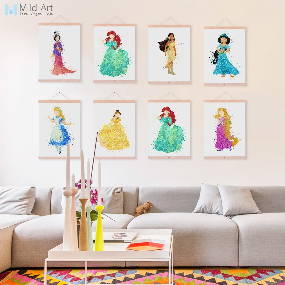 Best ideas about Kids Room Wall Art . Save or Pin Watercolor Princess Snow White Aurora Wooden Framed Poster Now.
