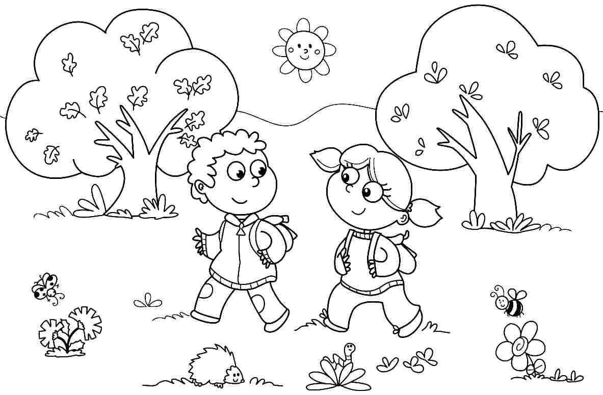 Kindergarten Free Coloring Sheets  Bird Coloring Pages For Kids And Kindergarten Free