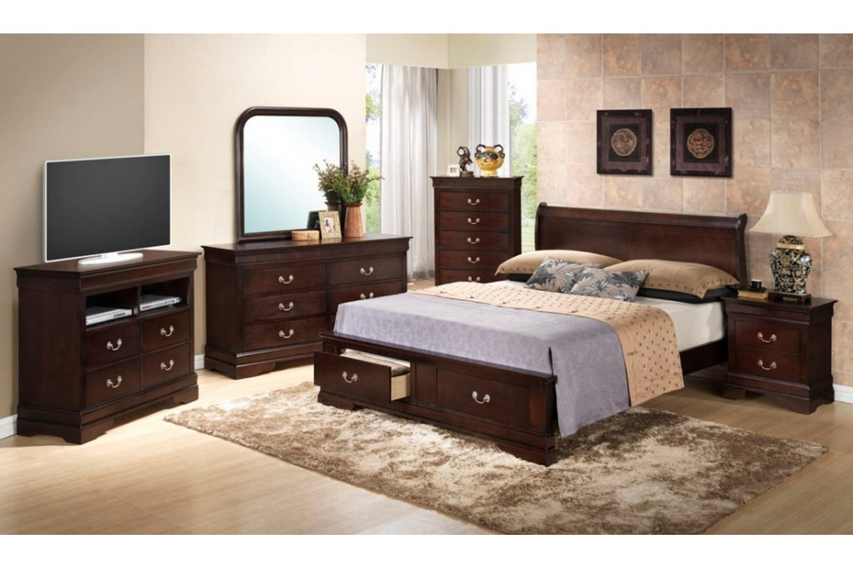 Best ideas about King Size Bedroom Set . Save or Pin Bedroom Sets Dawson Cappuccino King Size Storage Now.