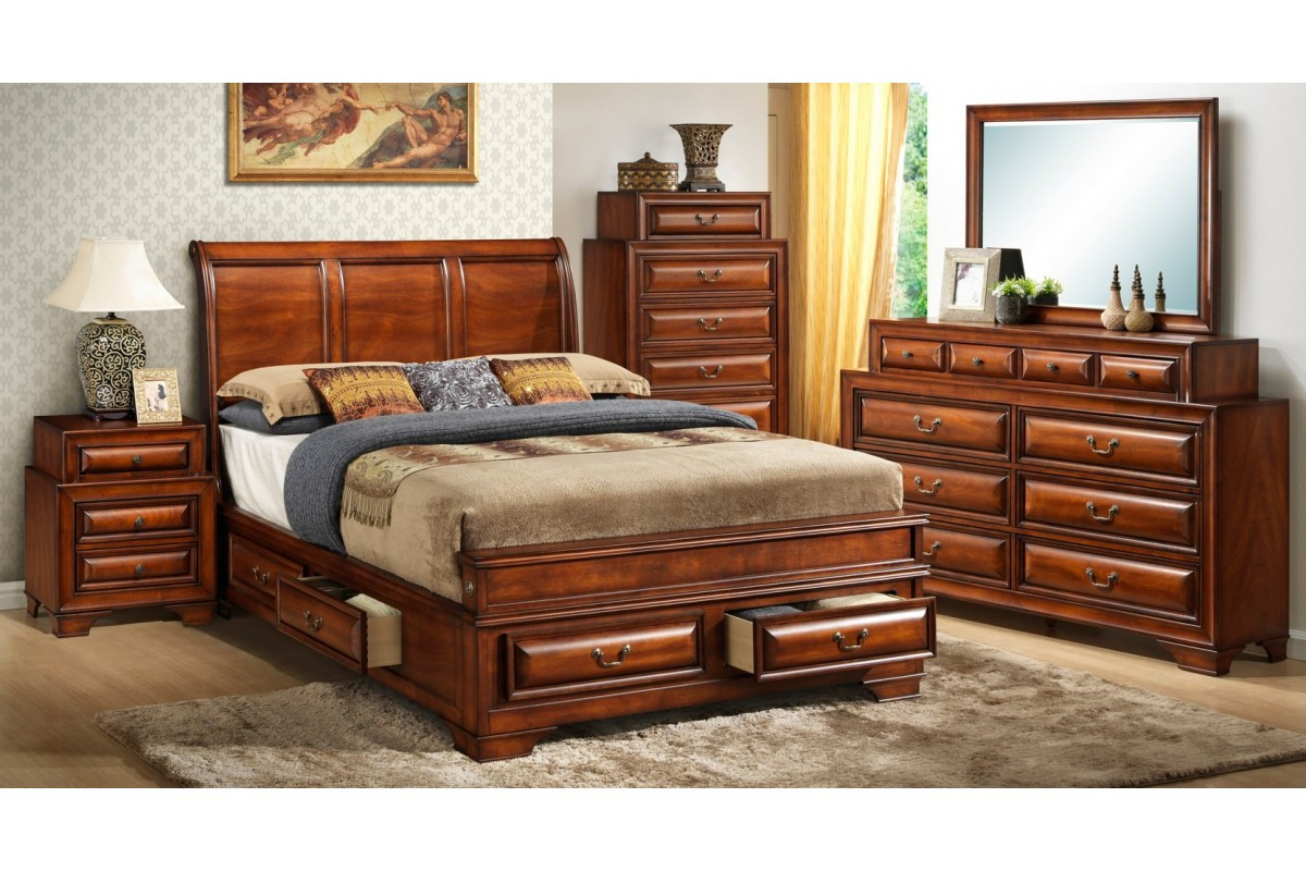 Best ideas about King Size Bedroom Set . Save or Pin Bedroom Sets South Coast Cherry King Size Storage Now.
