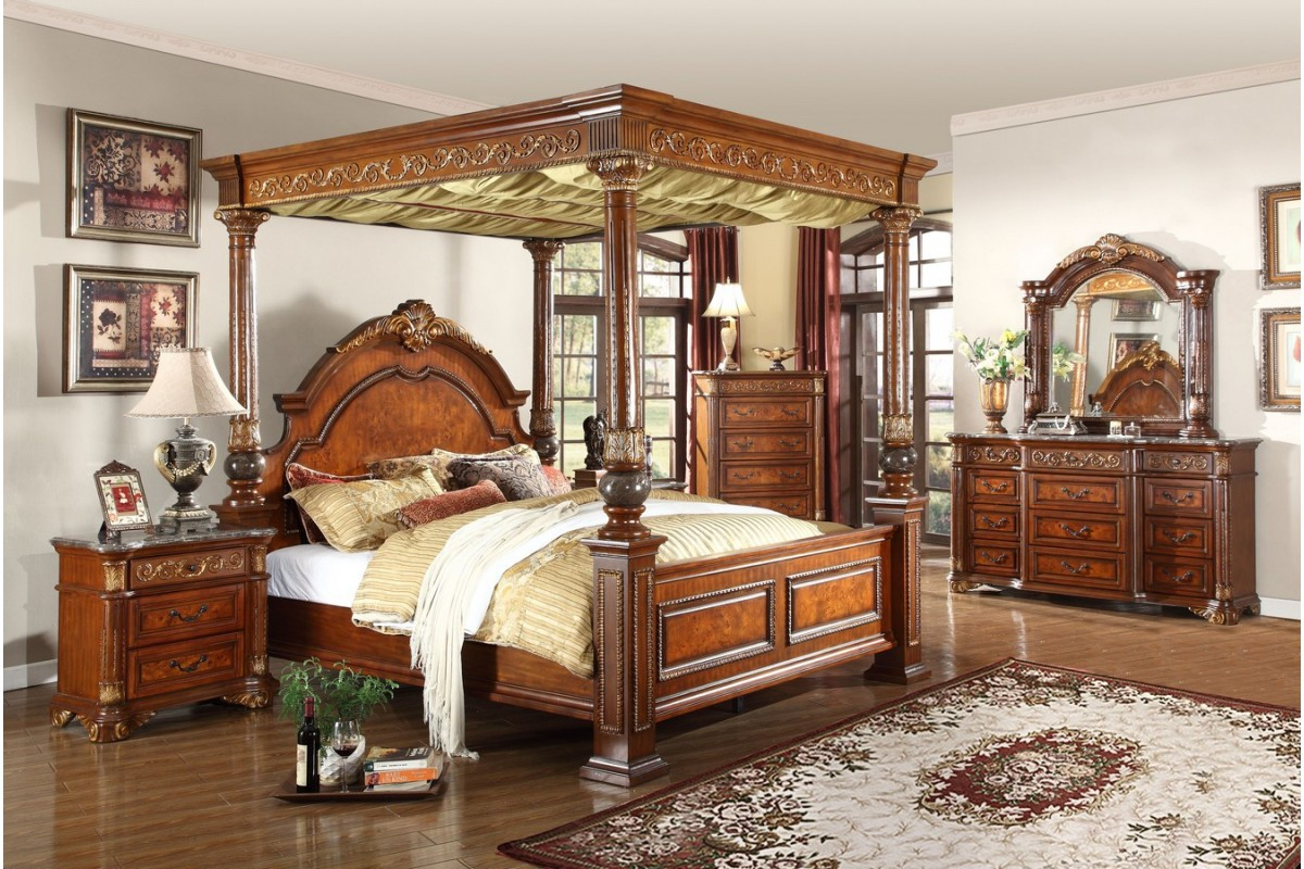 Best ideas about King Size Bedroom Set . Save or Pin Bedroom Sets Royal Post King Size Bedroom Set Now.