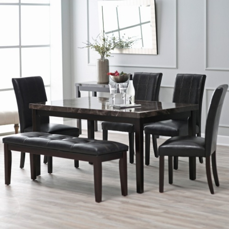 Best ideas about Kitchen & Dining Room Table . Save or Pin Finley Home Milano 6 Piece Dining Table Set Kitchen Amp Now.