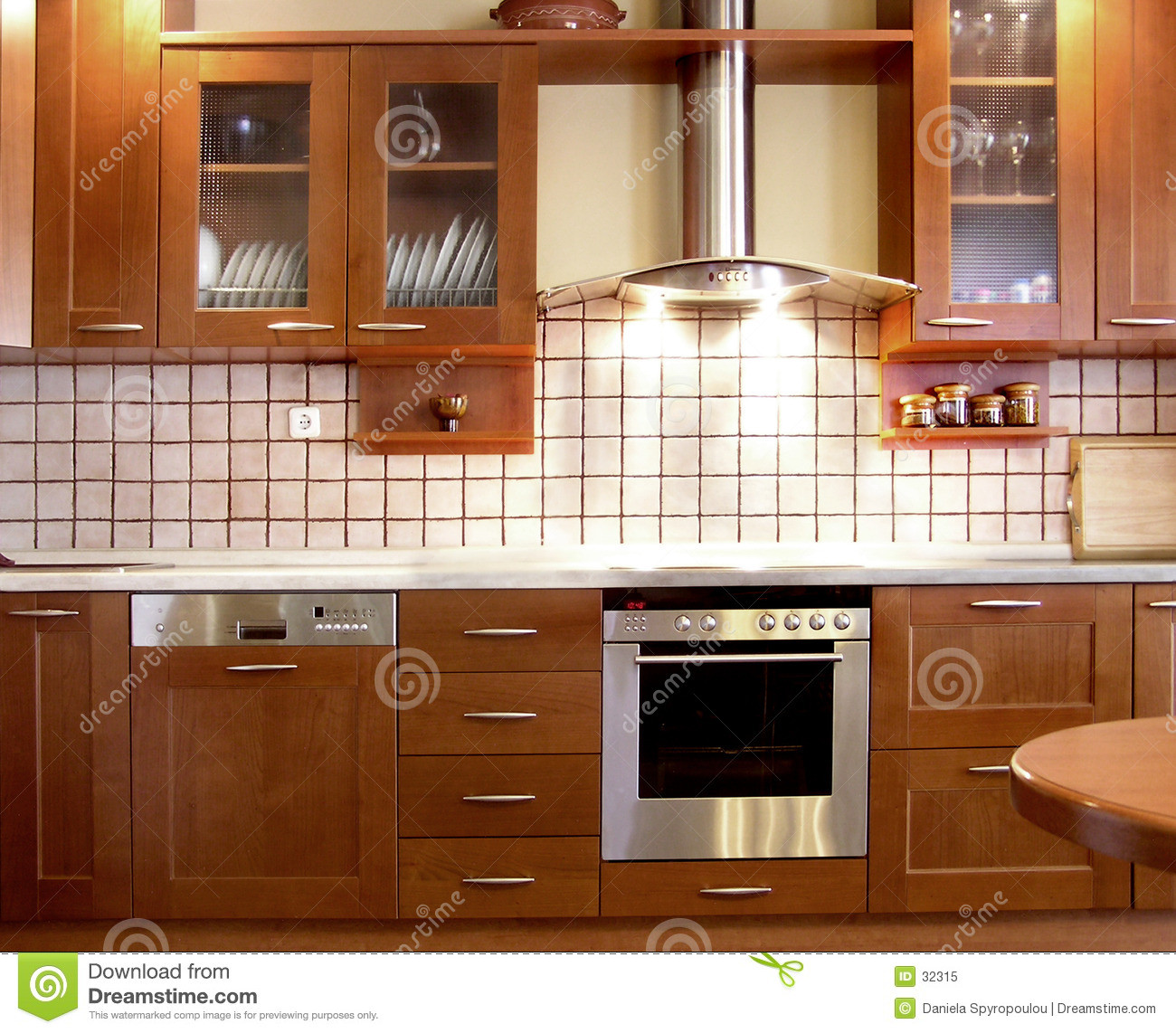 Best ideas about Kitchen Decoration Image . Save or Pin Cherry kitchen design stock image Image of kitchens Now.