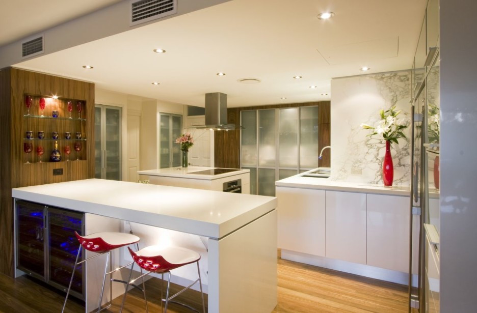 Best ideas about Kitchen Decoration Image . Save or Pin Kitchen Fabulous Modern White Kitchen Decoration Using Now.