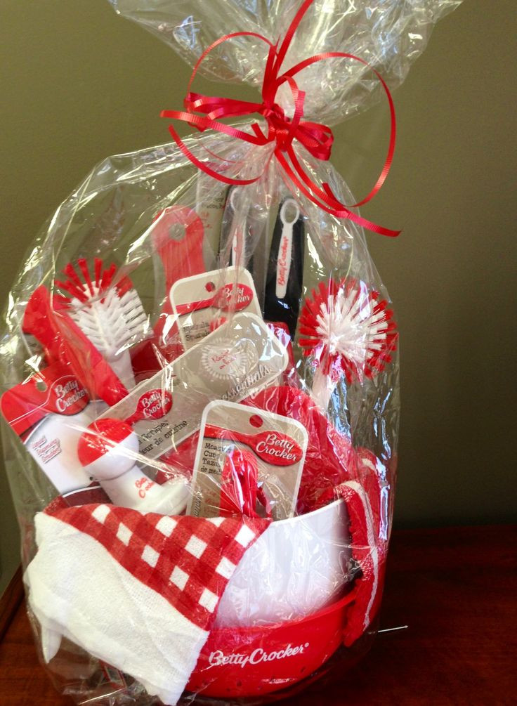 Kitchen Gift Baskets Ideas  kitchen Gift basket from the Dollar Tree t ideas