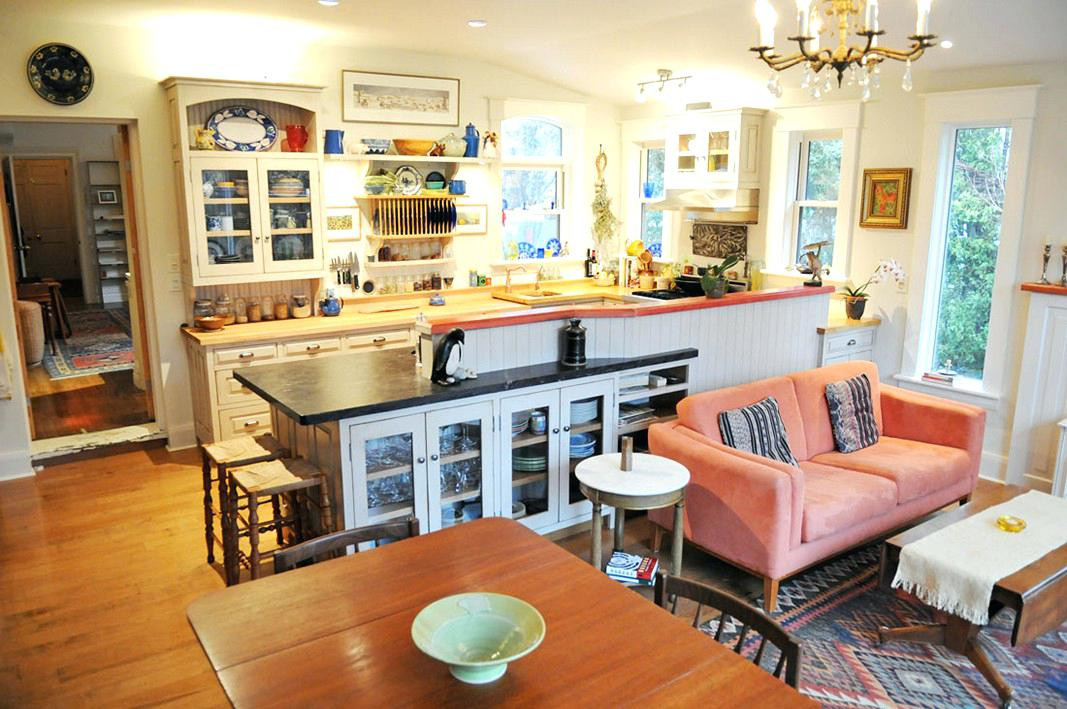 Best ideas about Kitchen Open To Family Room . Save or Pin Small Open Concept Kitchen With Island Living Room Dining Now.