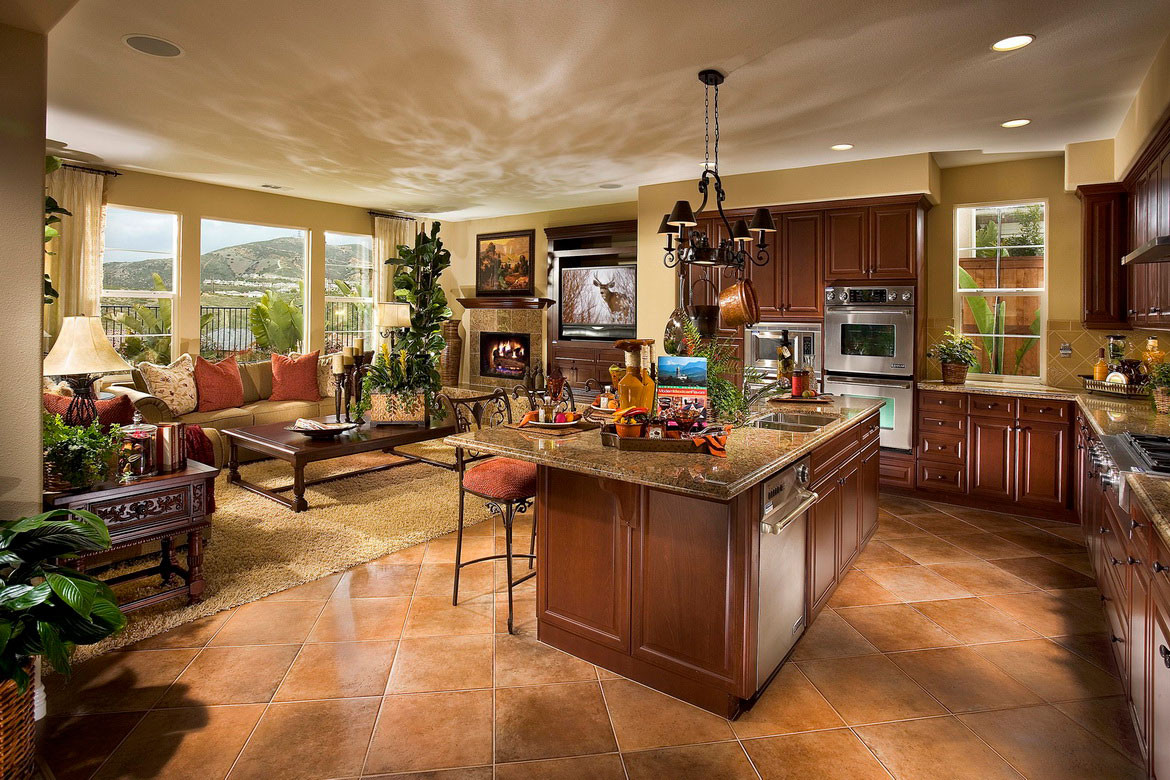 Best ideas about Kitchen Open To Family Room . Save or Pin Open Kitchen Design Ideas with Living and Dining Room Now.