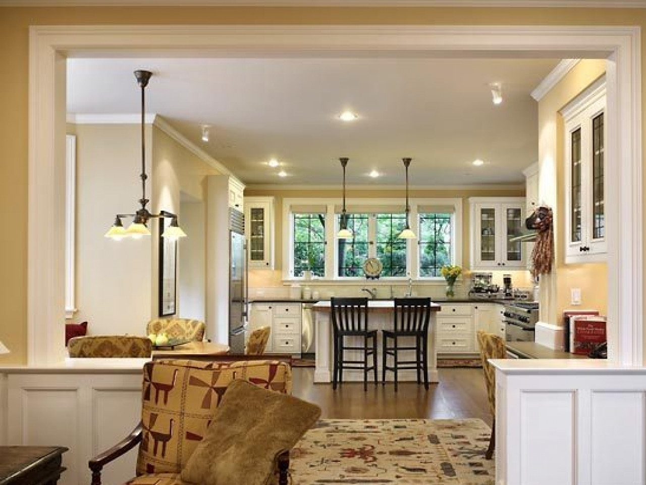 Best ideas about Kitchen Open To Family Room . Save or Pin 27 Kitchen Living Room Ideas Innovative Kitchen Living Now.