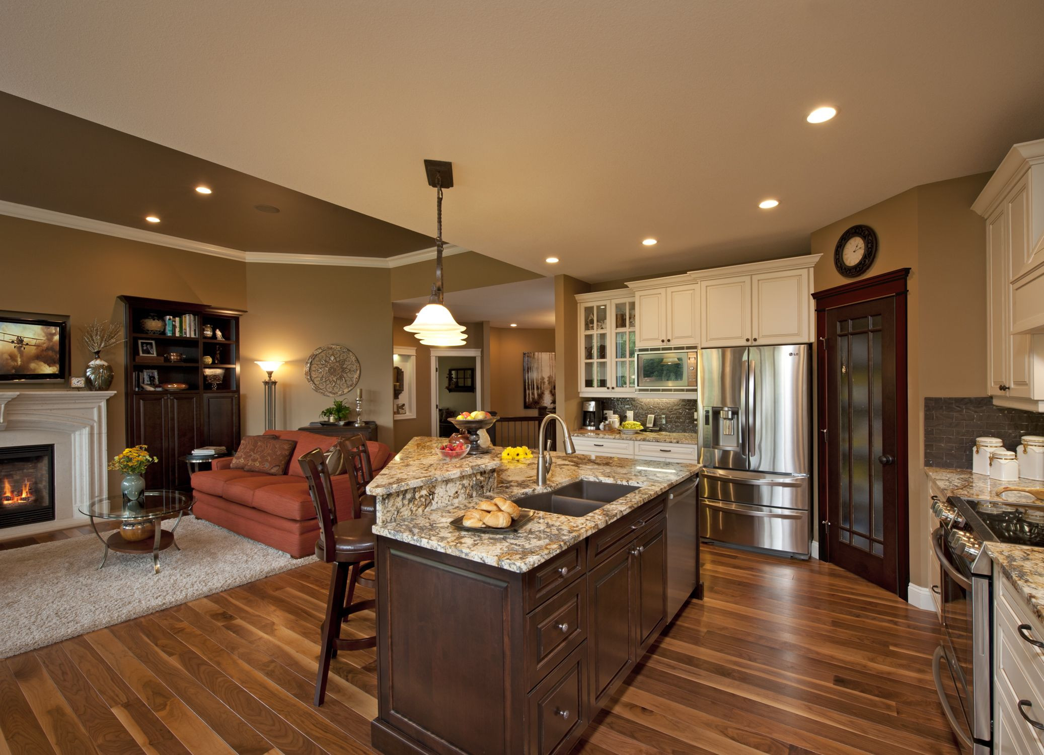 Best ideas about Kitchen Open To Family Room . Save or Pin Another kitchen family room bo Now.