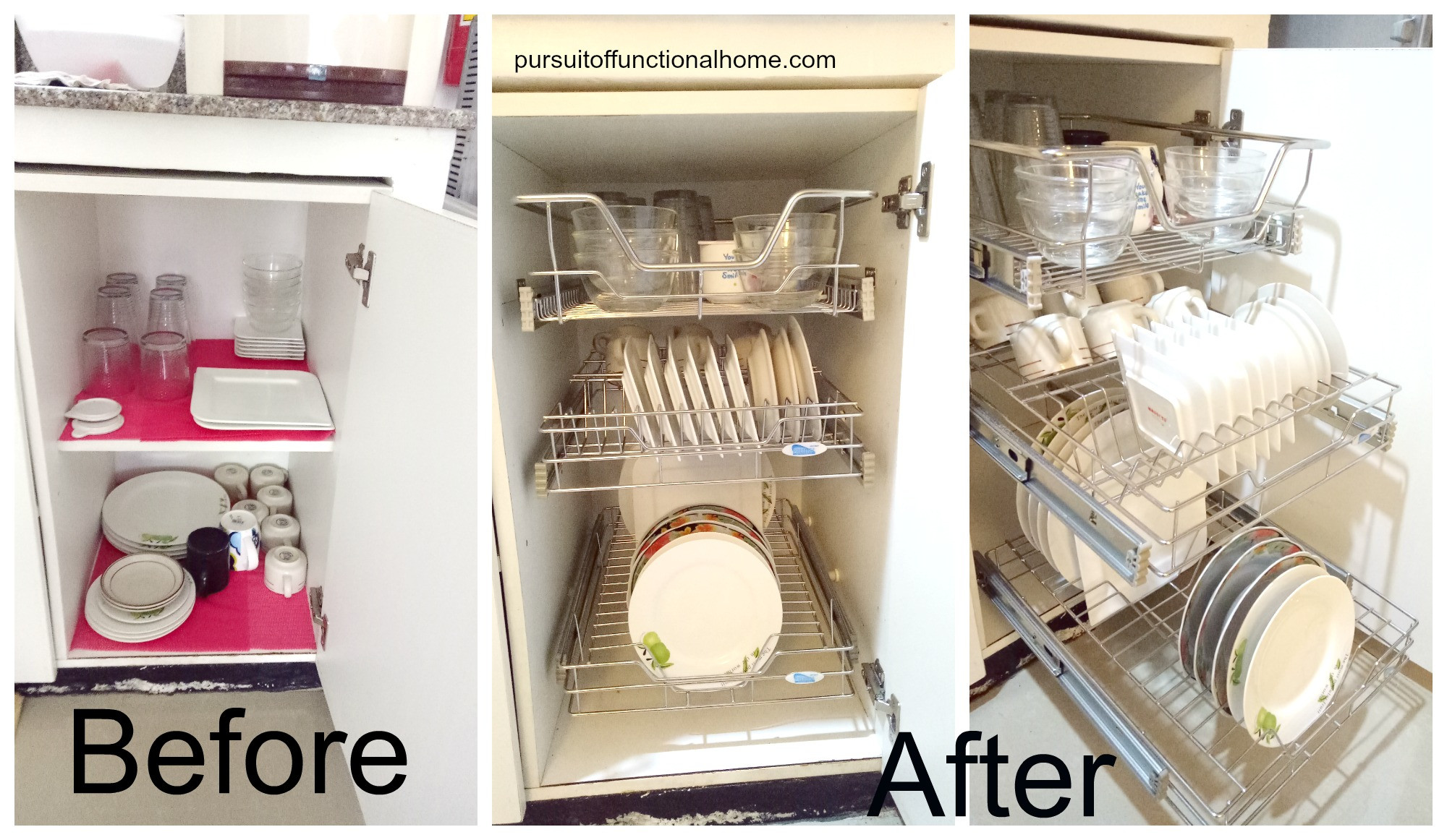 Best ideas about Kitchen Organizer Rack . Save or Pin Pull out Kitchen Wire Rack – Pursuit of Functional Home Now.