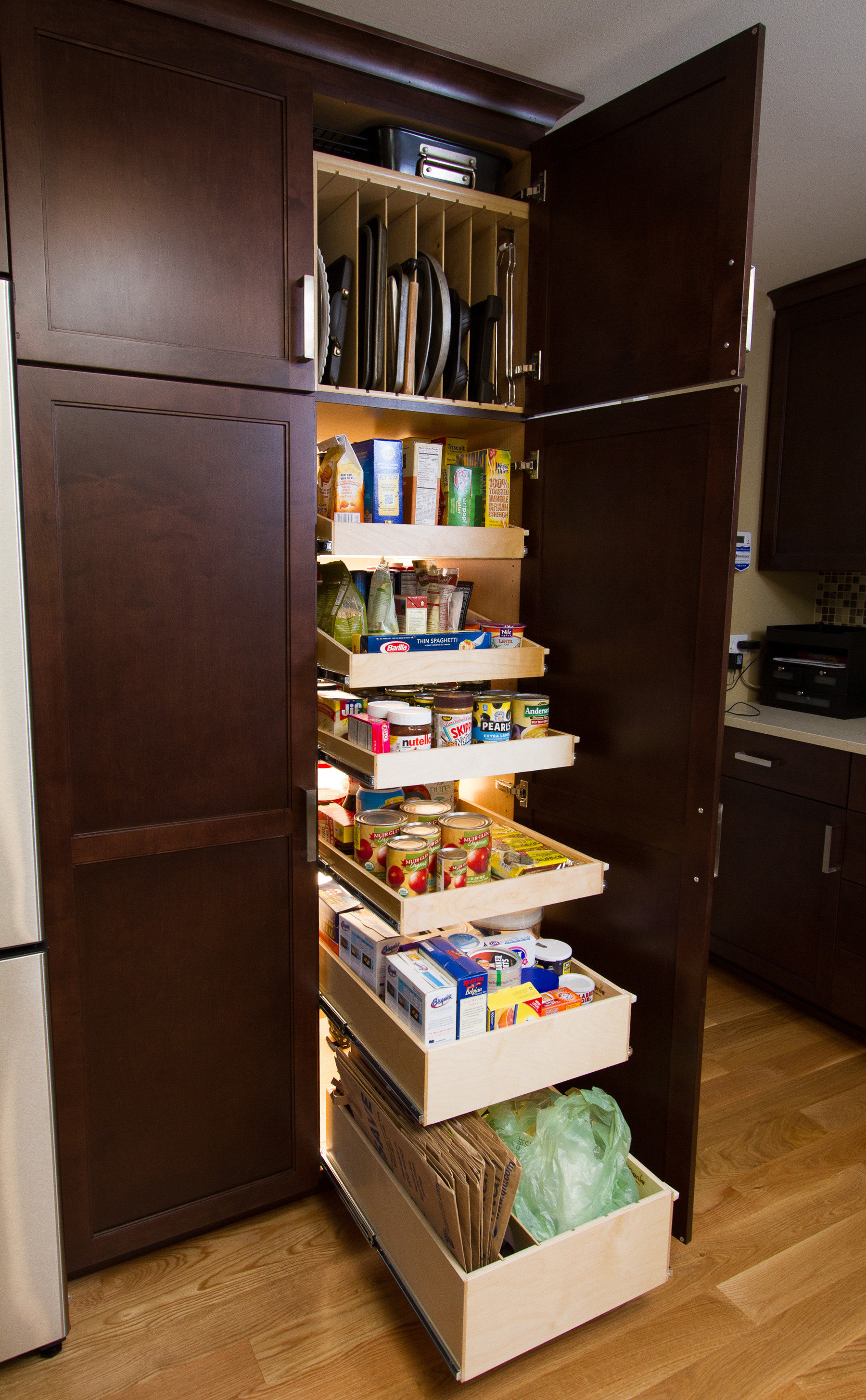 Best ideas about Kitchen Organizer Shelf . Save or Pin Slide Out Pantry Shelves Turn Elizabethtown Homeowner's Now.