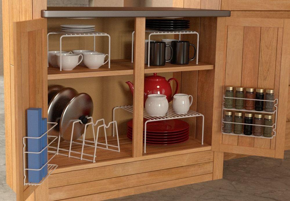 Best ideas about Kitchen Organizer Shelf . Save or Pin 6 Piece Kitchen Cabinet Pantry Shelf Organizer Door Now.