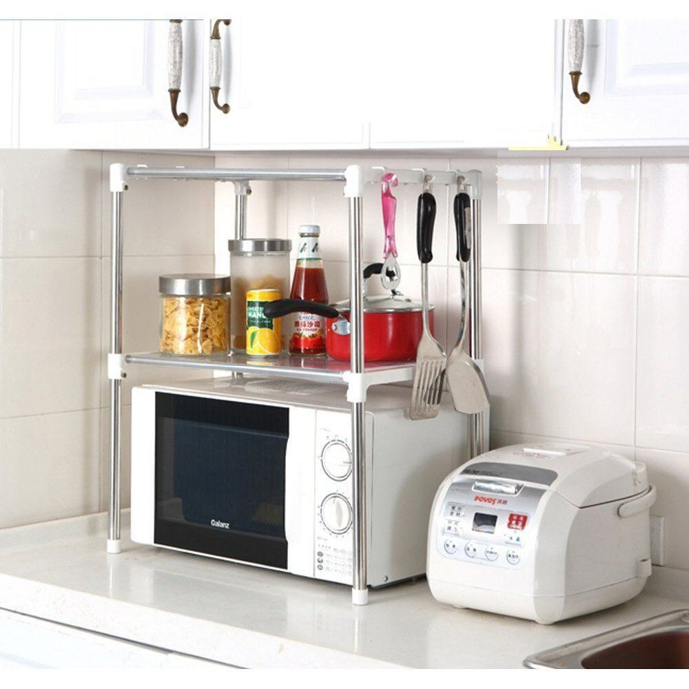 Best ideas about Kitchen Organizer Shelf . Save or Pin Multifunction Microwave Oven Stainless Steel Shelf Kitchen Now.