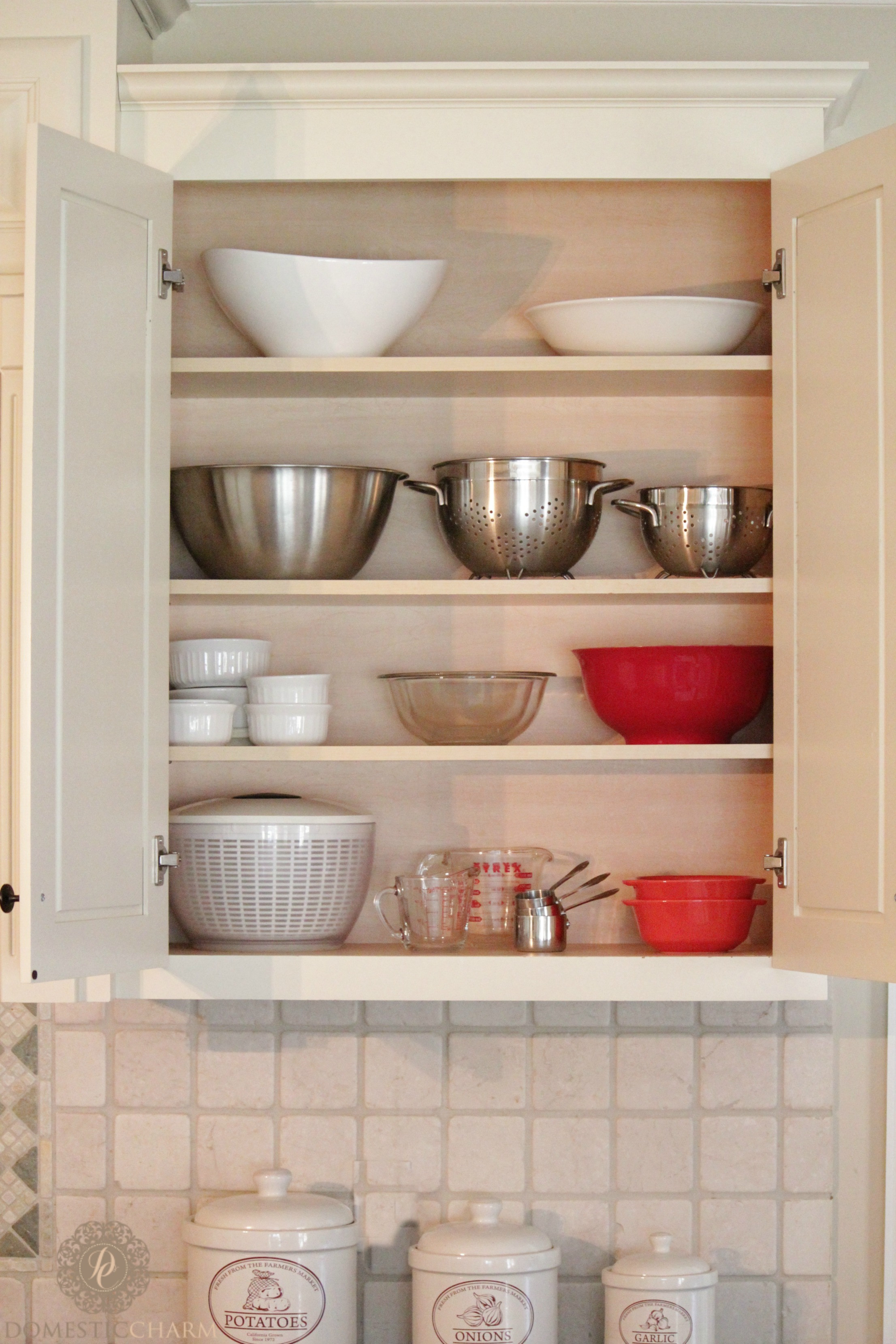 Best ideas about Kitchen Organizer Shelf . Save or Pin Organizing Your Kitchen Cabinets Domestic Charm Now.
