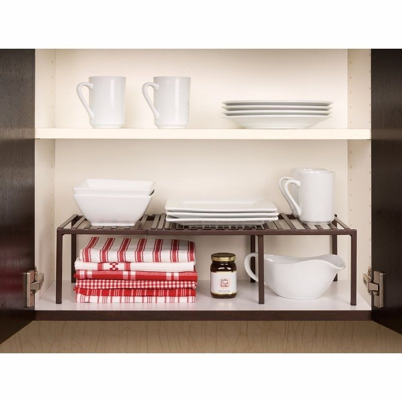 Best ideas about Kitchen Organizer Shelf . Save or Pin Expandable Shelf Rack Cabinet Organizer Storage Kitchen Now.