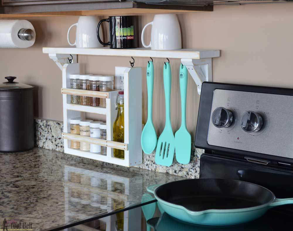 Best ideas about Kitchen Organizer Shelf . Save or Pin Kitchen Backsplash Shelf and Organizer Her Tool Belt Now.