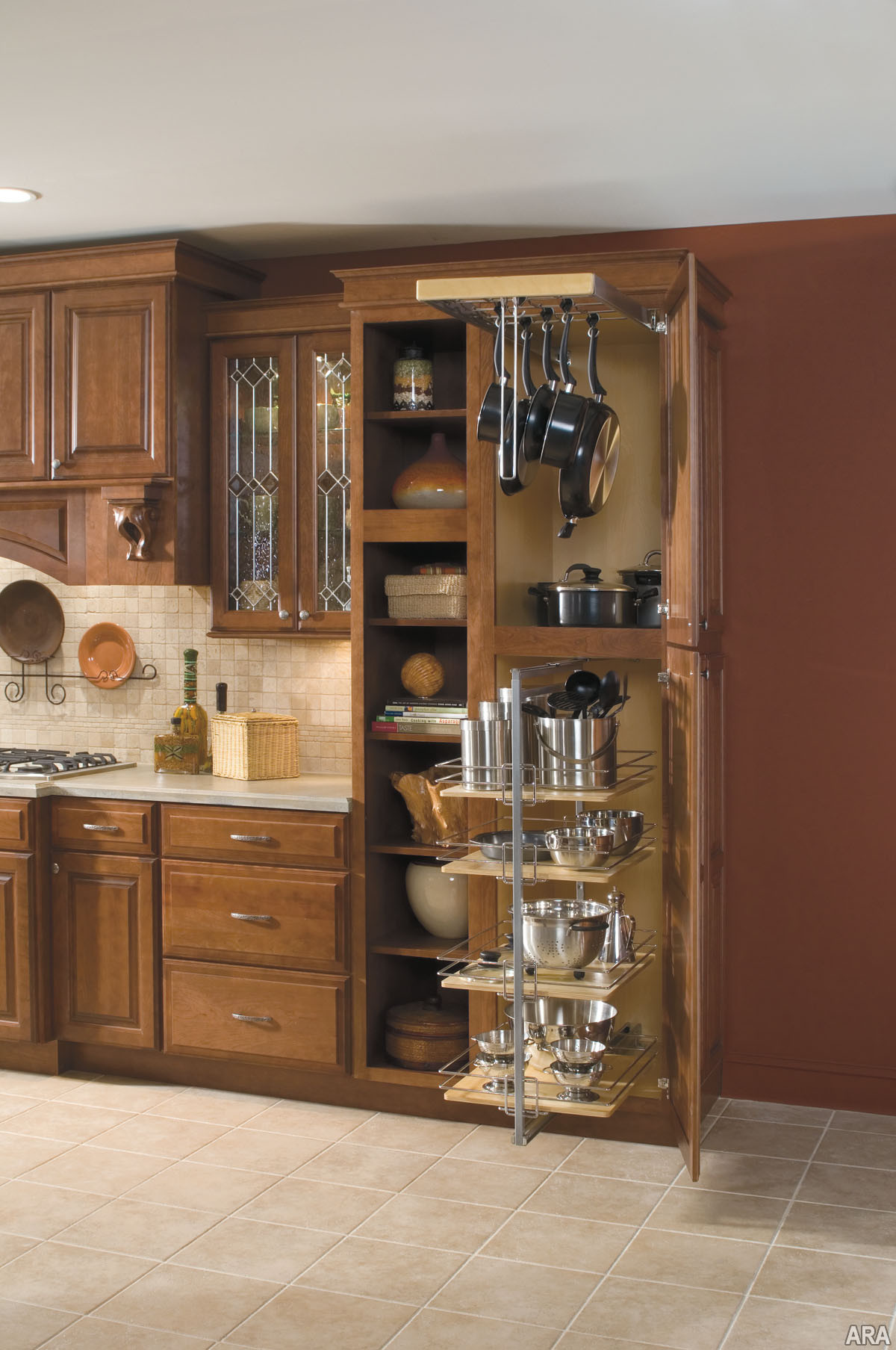 Best ideas about Kitchen Organizer Shelf . Save or Pin Tall kitchen utility cabinets Now.