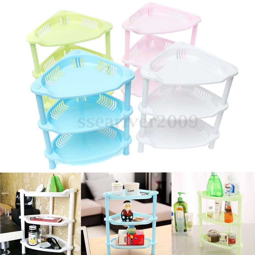 Best ideas about Kitchen Organizer Shelf . Save or Pin 3 Tier Plastic Corner Shelf Unit Organizer Cabinet Now.