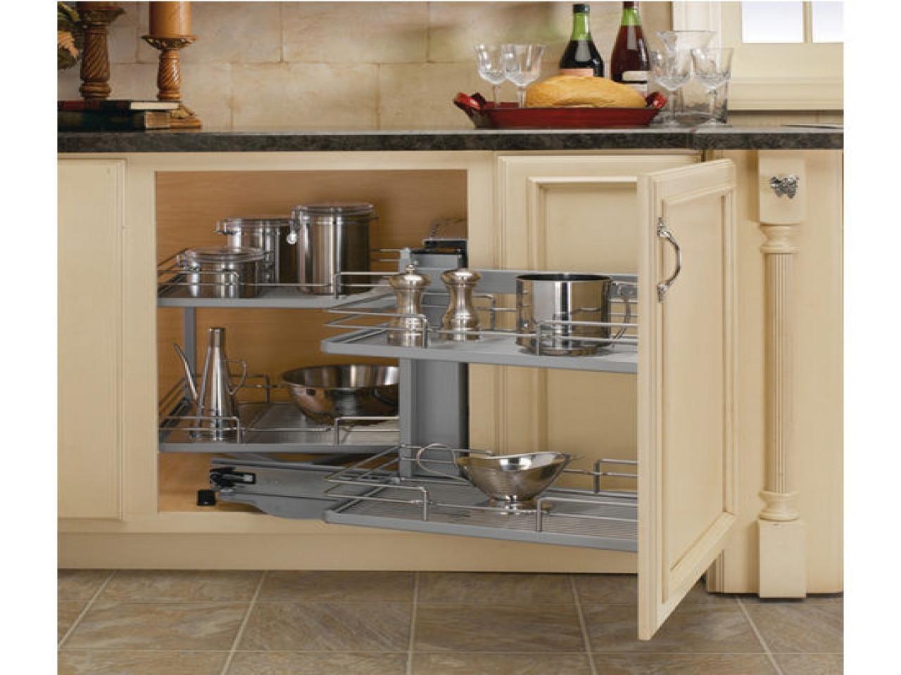 Best ideas about Kitchen Organizer Shelf . Save or Pin Corner shelves on kitchen cabinets blind corner kitchen Now.