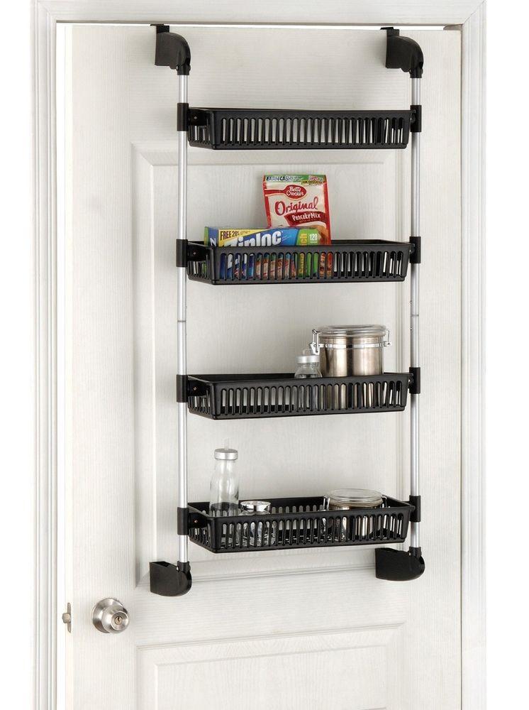 Best ideas about Kitchen Organizer Shelf . Save or Pin Pantry Kitchen Organizer Storage Rack Over Door Shelf Now.