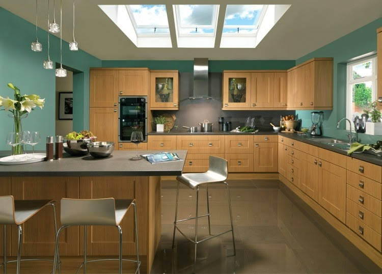 Best ideas about Kitchen Paint Color Ideas . Save or Pin Contrasting kitchen wall colors 15 cool color ideas Now.