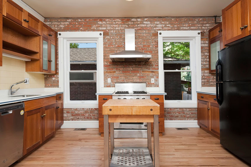 Best ideas about Kitchens With Brick Accent Walls . Save or Pin 47 Brick Kitchen Design Ideas Tile Backsplash & Accent Now.