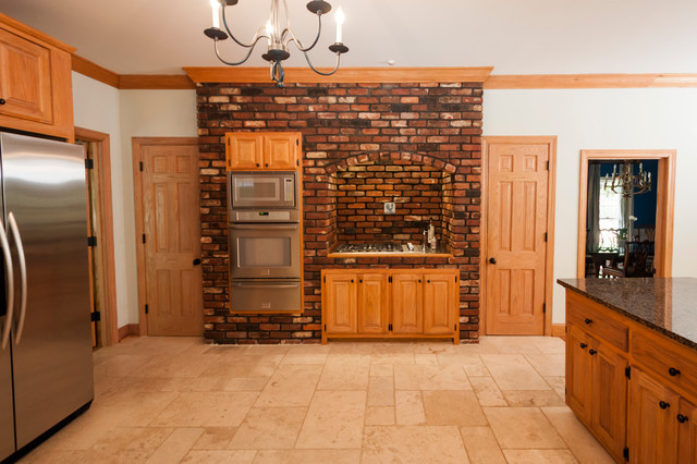 Best ideas about Kitchens With Brick Accent Walls . Save or Pin Brick Accent Wall Traditional Kitchen Other by Now.