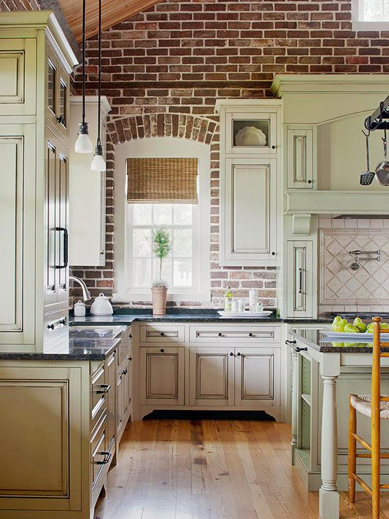 Best ideas about Kitchens With Brick Accent Walls . Save or Pin Farmhouse Kitchens with Fixer Upper style Now.
