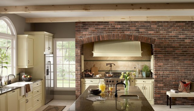 Best ideas about Kitchens With Brick Accent Walls . Save or Pin Brick Accent Wall Kitchen Now.
