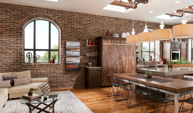 Best ideas about Kitchens With Brick Accent Walls . Save or Pin Brick Kitchen Accent Wall Traditional Dining Room Now.