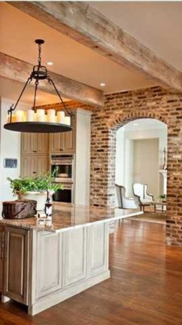 Best ideas about Kitchens With Brick Accent Walls . Save or Pin 74 Stylish Kitchens With Brick Walls and Ceilings DigsDigs Now.