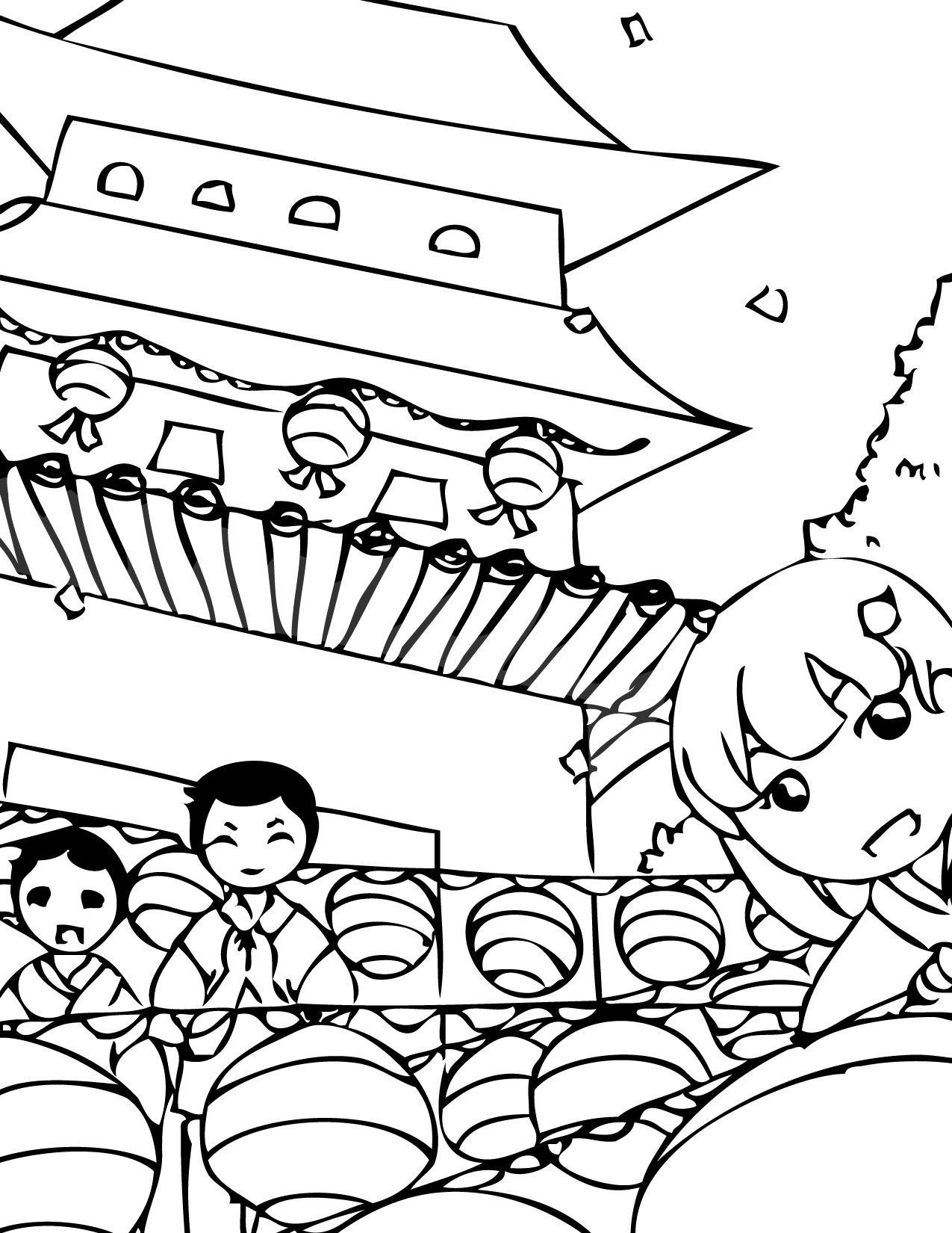 Korean Coloring Book  Buddha s Birthday Korean Coloring Pages