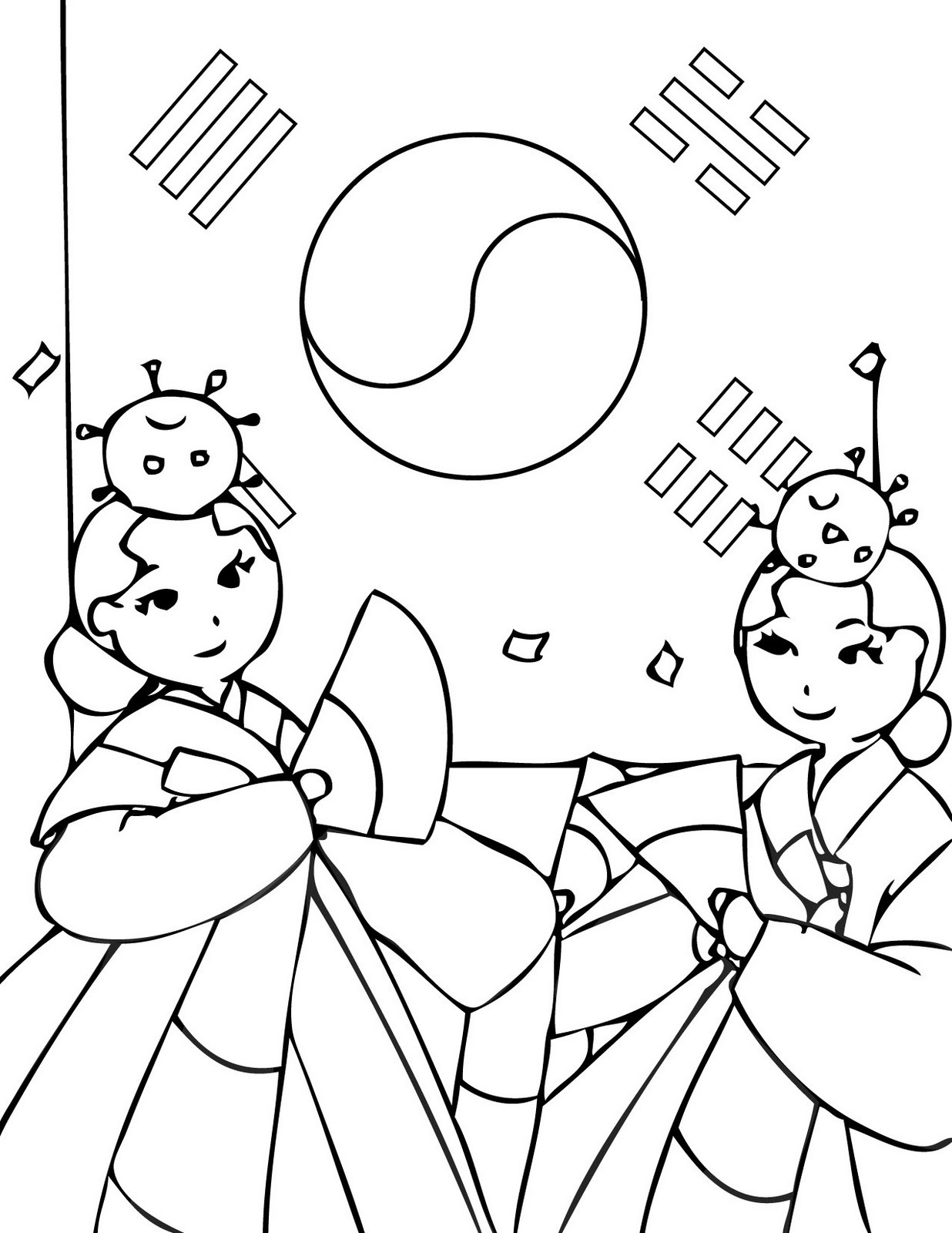 Korean Coloring Book  Just Wedeminute Stats page and Korean coloring pages