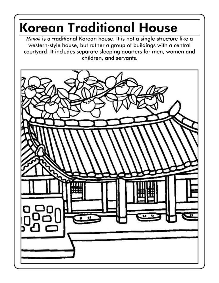 Korean Coloring Book  54 best images about Korean Coloring Pages on Pinterest