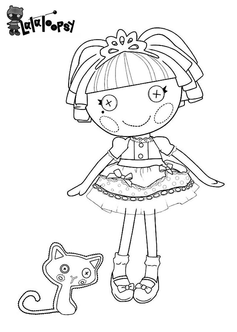 Lalaloopsy Printable Coloring Sheets  Lalaloopsy Coloring Pages