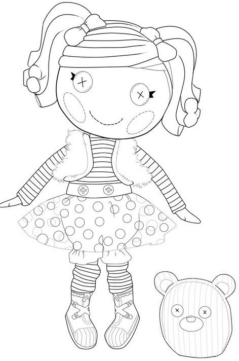 Lalaloopsy Printable Coloring Sheets  Kids n fun
