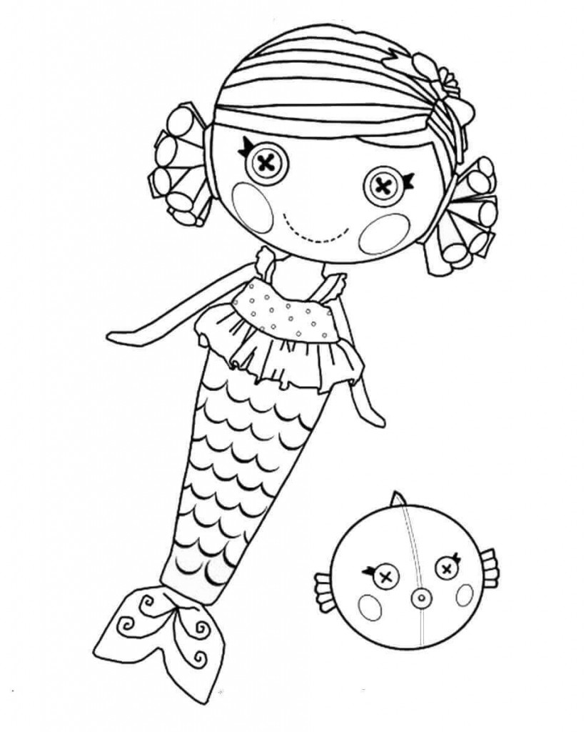 Lalaloopsy Printable Coloring Sheets  30 Stunning Mermaid Coloring Pages